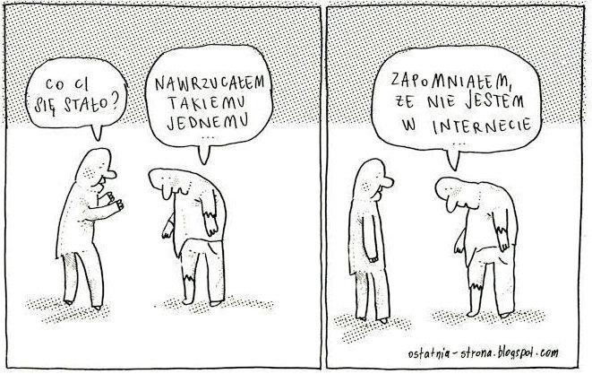 Komiks o trolach internetowych