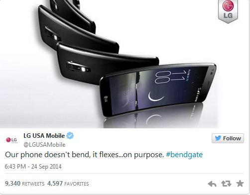 LG Bendgate trolling Twitter